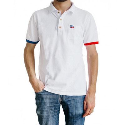 Polo Blanc céleste homme