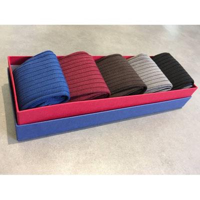 Semainier 5 paires de chaussettes Fil d'Ecosse unies