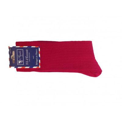 Chaussette de couleur rouge fabrication Française