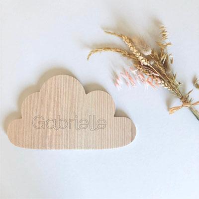 Nuage personnalisable en bois massif