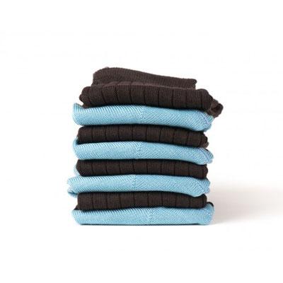 Chaussettes bleu/grise fabrication Française