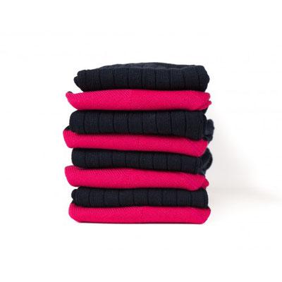 Chaussettes noire/rouge fabrication Française