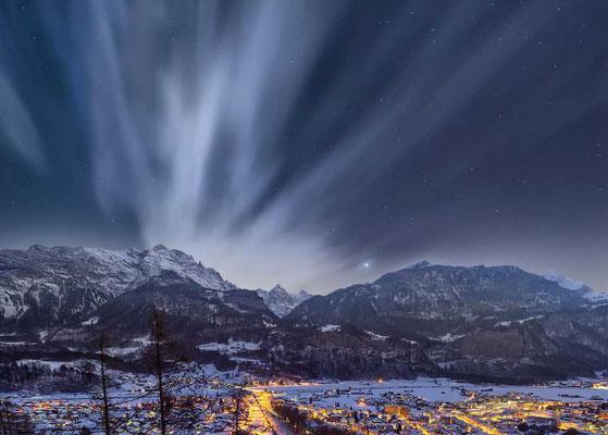 Landschaftbild für Luftmaschenschal von alpavia-design.ch