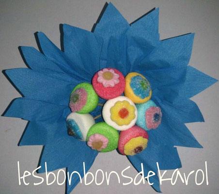 mini bouquet - 7 € (env. 130 gr et 16 bonbons)