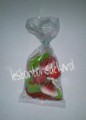assortiment noël 1,50 € (36 bonbons rouges et verts)