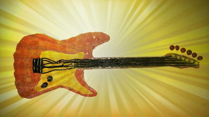 guitare électrique 880 gr et 176 bonbons - lg 70 cm)