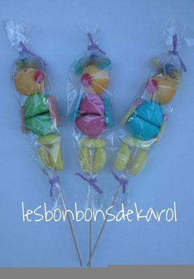 brochette perroquet 3 € (70 gr - 10 bonbons)