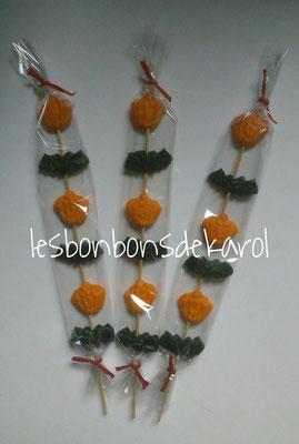 brochette hariween 2 € (6 gommes aux fruits haribo halloween)