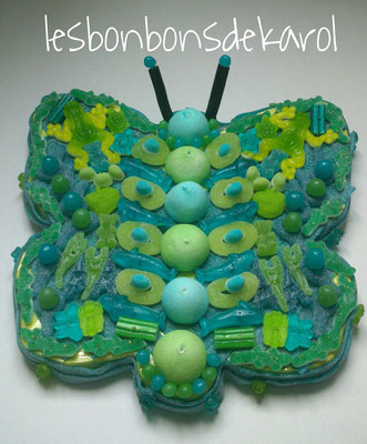pap'bleuvé 35 € (1 kg et 170 bonbons - diam 43 cm)