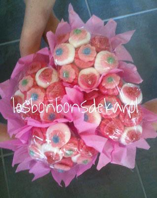 4 mini bouquets 26 € (64 bonbons)