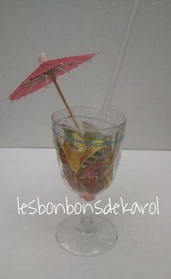 coupe fruits sans sucre (aspartame) 20 bonbons + 2 papilons 2,80 €