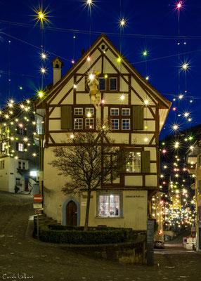 Weihnachtsbeleuchtung in der Altstadt von Baden (AG)