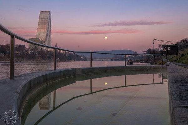 Mondaufgang in Basel (Supermond)