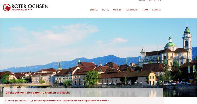 Hotel Roter Ochse Solothurn - kein Seminarhotel sondern Altstadhotel Solothurn