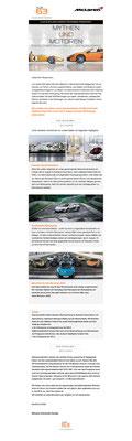 Einladung zur Probefahrt mit dem neuen McLaren 650S