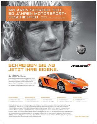 Leasing-Anzeige für McLaren 12C