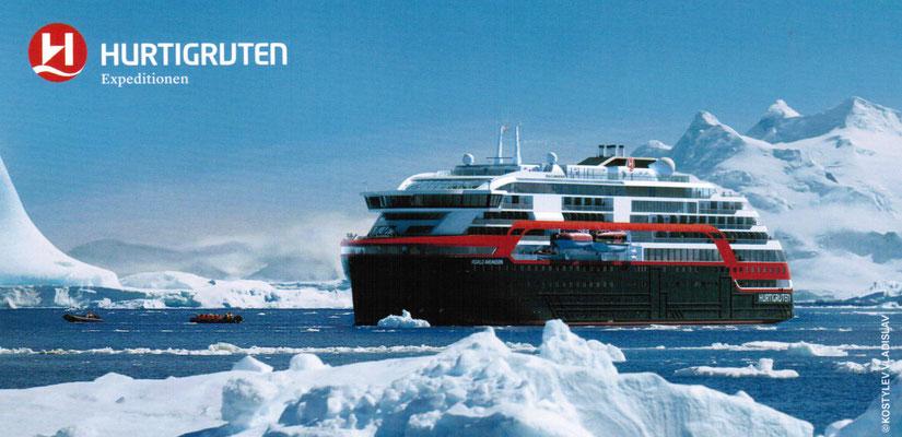 Expeditionen mit Hurtigruten preisgünstiger bei SINGER Reisen & versicherungen jetzt buchen...