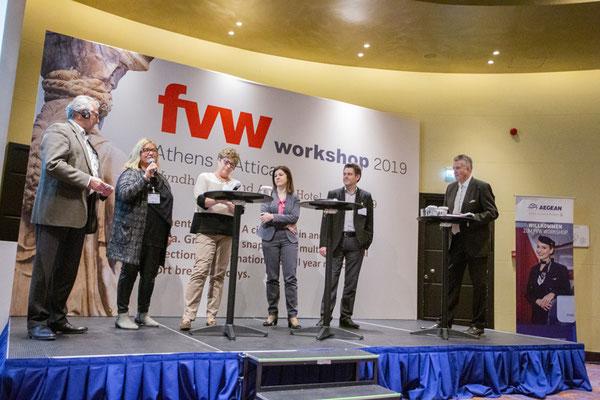 Tagungen-Diskussionen über Tourismus mit der FVW in Athen-Hoteliers, Presse, Leistungsträgern und Bürgermeister von Athen......