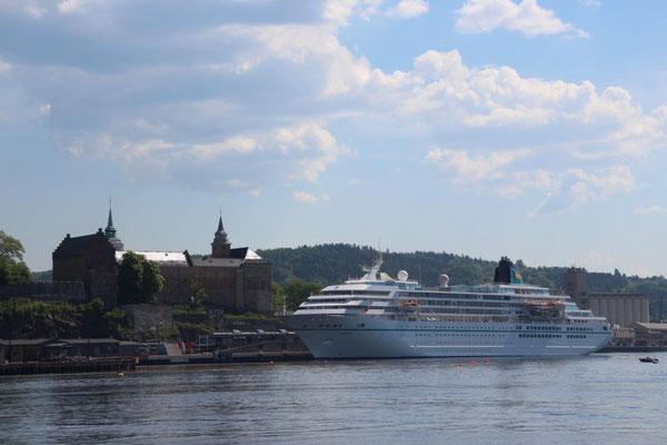 MS Amadea in Oslo...Anleger direkt in der Stadt...