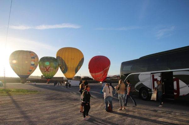 Ballon fahren in Andalusien über die Sierra Nevada...