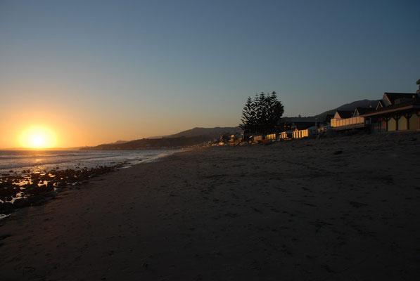 sunset at malibu beach, ca