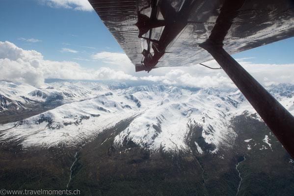 Flug zum Mt. McKinley