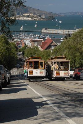 cable car, hyde street, san francisco; ca