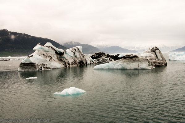 Eisbrocken des Columbia Gletscher