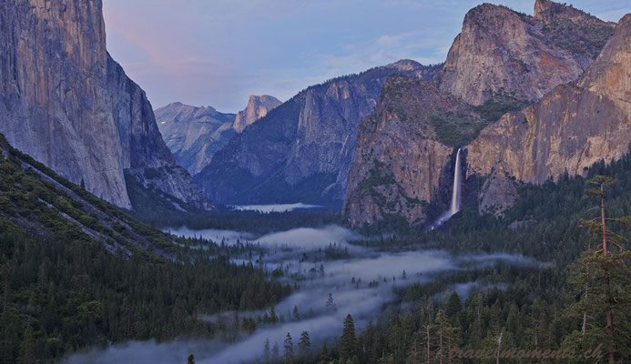 from tunnel view point, yosemite valley; ca
