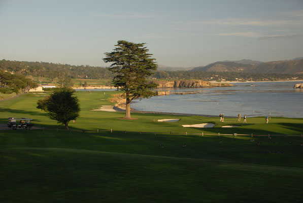 pebble beach golf, 17 miles drive, monterey; ca