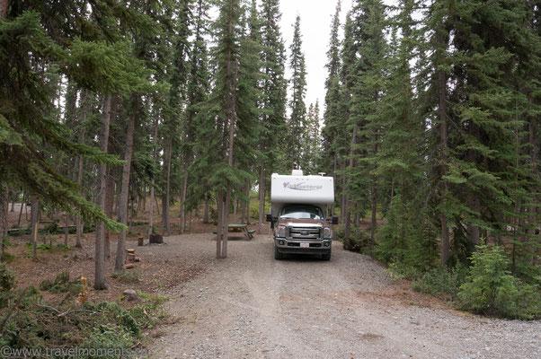 Camping am Marsh Lake