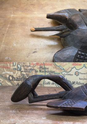 Restauration (avec interprétation) d'un masque décoratif Sénoufo