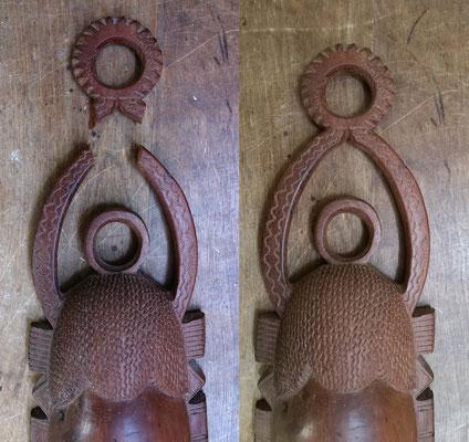 Restauration d'un masque décoratif (Mauritanie)