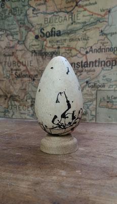 Réplique d'oeuf de grand pingouin inspirée du n°38 : The Tomkinson egg (cfr Fuller E. The great auk, 1999)