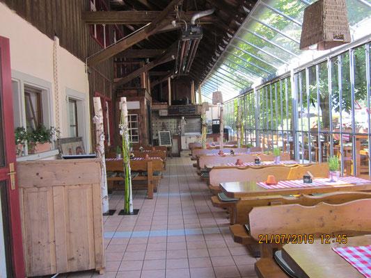 SB-Restaurant mit tollem Biergarten
