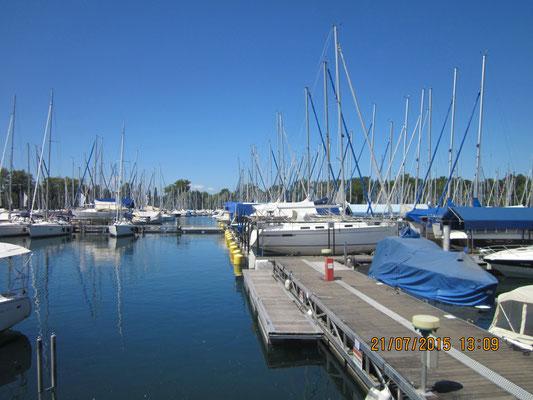 Seglerhafen in Tunau
