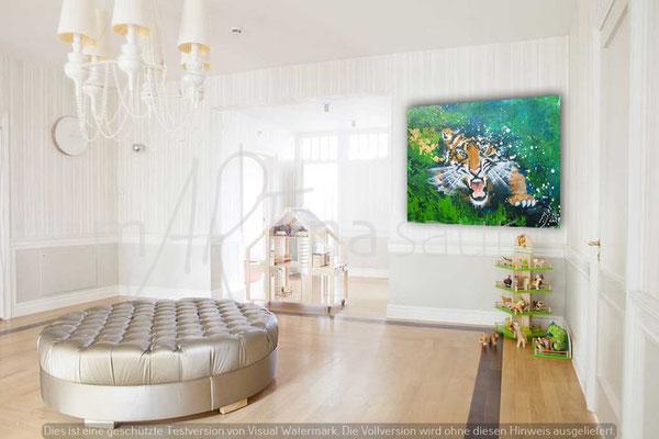 Wandbild Tiger force