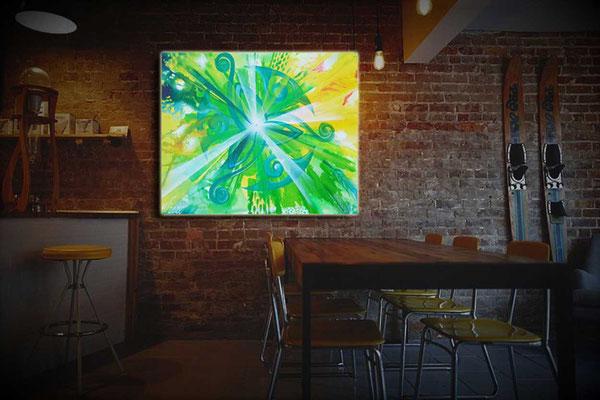 Lichtbild an Wand Trinity