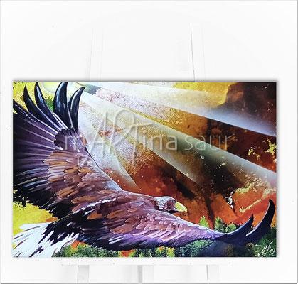 Eagle Freedom auf Staffelei