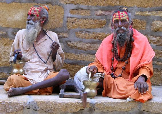 Sadhus de Jaisalmer au Rajasthan - Inde