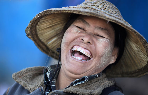 Rire d'une Birmane