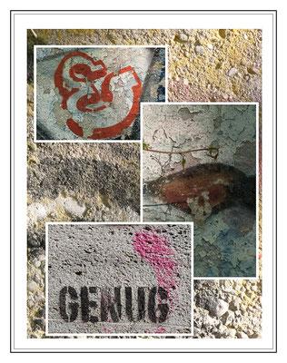 <b>Genug</b><br> Graffiti-Spuren am Isarufer in München   ©Reiner Gruhle