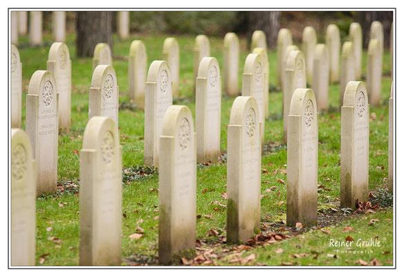 <b>Kriegsgräber gestaffelt</b><br>    ©Reiner Gruhle