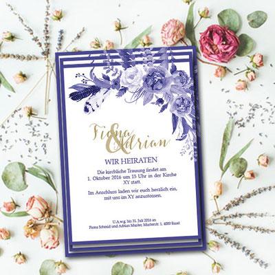 Hochzeitseinladung im Boho Styl