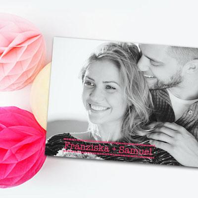 moderne und günstige Hochzeitskarte