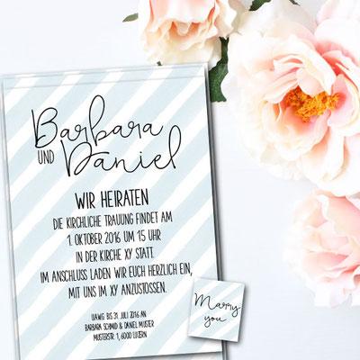 Amerikanisches design Hochzeitseinladung