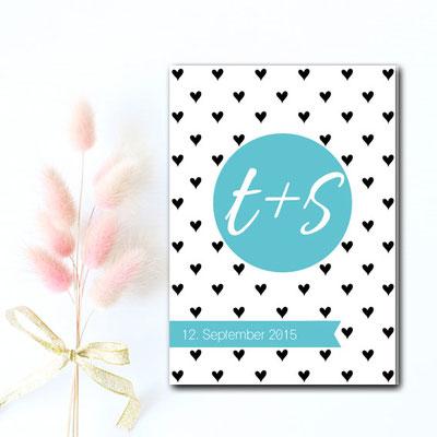 Hochzeitseinladungskarte modern