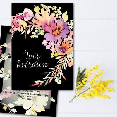 Karte zur Hochzeit drucken