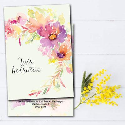 Hochzeitskarte modern