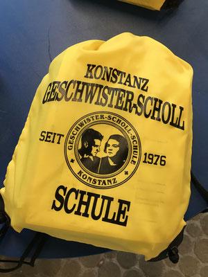 Turnbeutel für die neuen Fünftklässler der Geschwister-Scholl-Schule Konstanz